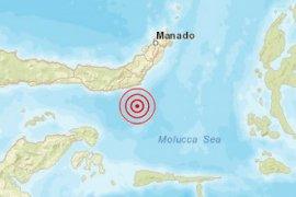 Gempa tektonik magnitudo 5,7 mengguncang tenggara Bolaang Uki Sulut