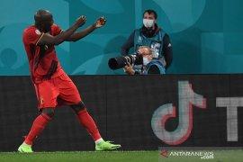 Euro 2020 - Dwigol Lukaku antar Belgia tekuk Rusia 3-0