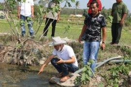 Bupati Lampung Selatan tinjau embung dengan sumber air panas