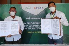 Bulog Sulselbar-Grab Indonesia bekerja sama penuhi pangan mitra pengemudi