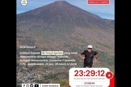 """Pelari gunung asal Bandung tuntaskan \""""Sembalun 7 Summits\"""" kurang dari 24 Jam"""