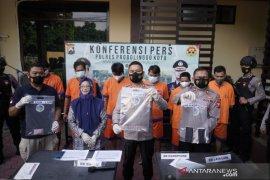 Satresnarkoba Polresta Probolinggo tangkap enam tersangka kasus narkoba