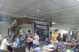Lantamal VIII Manado gelar Serbuan Vaksinasi di Kampung Bahari Nusantara