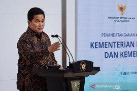 Menteri BUMN Erick Thohir pastikan stok aman untuk obat antiviral penanganan COVID