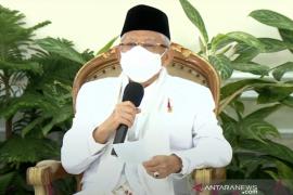 Wapres Ma'ruf Amin ajak ulama bersama Pemerintah dukung PPKM darurat