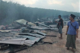 Rumah kongsi pekerja Indonesia di Malaysia terbakar