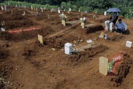 Ziarah kubur di pemakaman khusus COVID-19 Page 1 Small