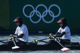 Atlet Dayung Indonesia Berlatih Jelang Berlaga di Olimpiade Tokyo 2020