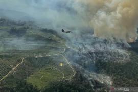 Pilot Pesawat tempur F-16 TNI AU temukan titik api kebakaran hutan dan lahan di Riau
