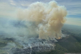 Pilot Pesawat tempur F-16 TNI AU temukan titik api kebakaran hutan dan lahan di Riau Page 3 Small