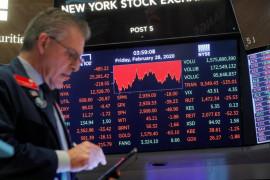 Wall Street jatuh terseret Amazon