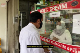 """Jokowi """"blusukan"""" cari obat COVID-19 di apotek Kota Bogor,  obat yang dicari pun tak ditemukan"""