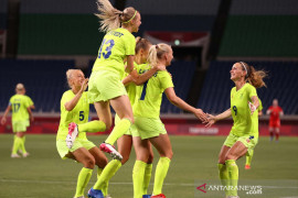 Timnas putri Swedia puncaki grup G usai kalahkan Selandia Baru 2-0