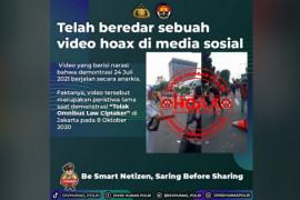 Polri pastikan video rusuh demo hari Ini adalah hoaks