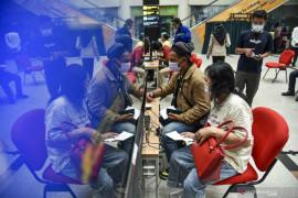 Vaksinasi COVID-19 penumpang pesawat di Bandara AP II mencapai 40.000 orang