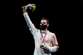 Szilagyi atlet anggar pertama sabet emas tiga olimpiade terakhir