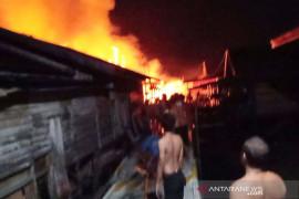 Polisi selidiki kebakaran hanguskan 20  rumah di Palangka Raya