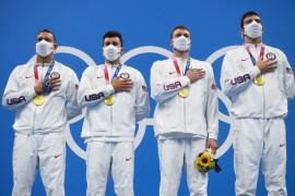 AS sabet medali emas renang estafet 4x100m gaya bebas putra