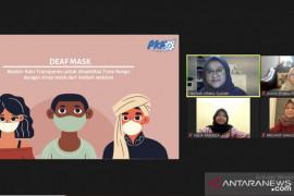 Mahasiswa UMM membuat masker khusus tuna rungu dari limbah sedotan