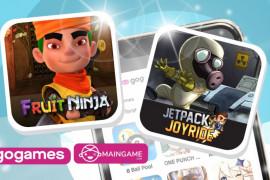 """Game \""""Fruit Ninja\"""" dan \""""Jetpack Joyride\""""  hadir di aplikasi Gojek"""