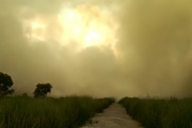 Banjarbaru mulai diselimuti kabut asap