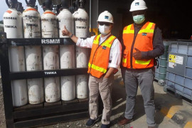 Freeport bantu 50 tabung medikal oksigen untuk RSMM Timika