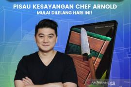 Chef Arnold akan lelang pisau kesayangan di program TokoCare Tokocrypto