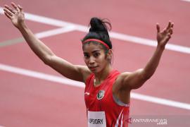 Sprinter putri Alvin Tehupeiory melaju ke babak utama Olimpiade Tokyo