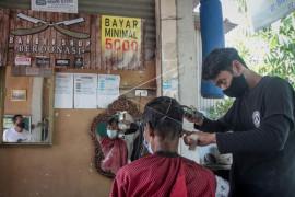Penggalangan dana dengan cukur rambut