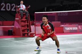 Anthony Sinisuka melaju ke semifinal bulutangkis Olimpiade Tokyo 2020