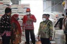 Pastikan ketahanan pangan selama pandemi, Bupati cek gudang Bulog di Sragi