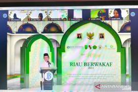 Gerakan Riau berwakaf 2021 mampu kumpulkan donasi Rp212 miliar lebih