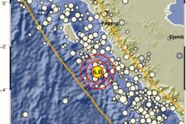 Gempa tektonik di barat daya Mukomuko dipicu aktivitas Lempeng Indo-Australia