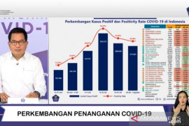 Delapan provinsi alami penurunan kasus penularan COVID-19