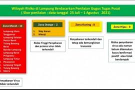 Zona merah sebaran COVID-19 di Lampung bertambah jadi 13 kabupaten/kota