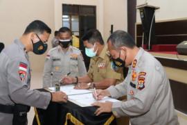 MoU Kapolda-Gubernur pemanfaatan Command Center Polda Kaltara