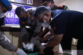 Polres Meranti musnahkan tiga kg sabu senilai Rp3 miliar dari Malaysia