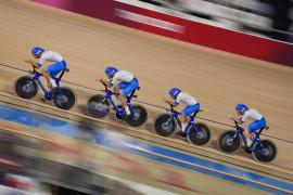 Italia pecahkan rekor dunia balap sepeda beregu putra