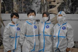 Polwan bantu pemulasaraan jenazah COVID-19