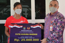 Bupati Tangerang beri bonus atlet juara Spain Master 2021