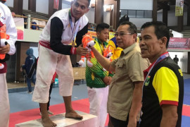 Atlet Kempo Sumbar Ari Parmanto penasaran dengan medali emas PON