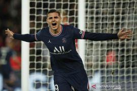 Gol Icardi di menit 93 menangkan PSG atas Lyon