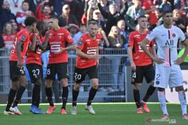 PSG dipermalukan Rennes dua gol tanpa balas