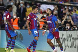 Barcelona meraih kemenangan 3-1 atas Valencia