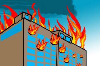 Gedung Bank BRI lantai 4 terbakar Jumat malam