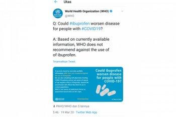 Dokter Inggris menguji  ibuprofen pada pasien corona yang sulit bernapas