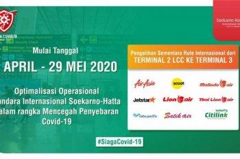 AP II: Operasional Terminal 1 dan 2 Soetta dibatasi mulai 1 April 2020