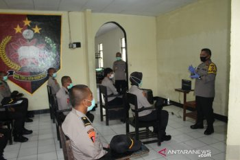 Belasan personel Polda Maluku menjalani karantina