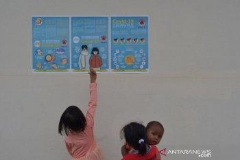 Sosialisasi COVID-19 kepada warga korban tsunami