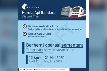 KA Bandara berhenti operasi 12 April-31 Mei 2020
